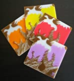 Coaster Set in Silicone, Wild Fruit (4 in Box)