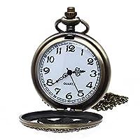 Reloj de Bolsillo Colgante Cadena Cuarzo Flores Vintage Regalo de bsupermart