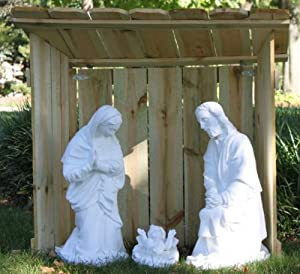 Amazon com outdoor nativity stable 36 quot h x 39 quot w x 24 quot d everything