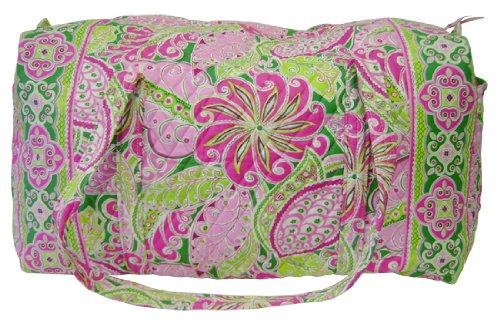 Vera Bradley Pinwheel Pink Large Duffle