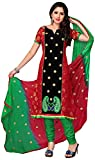 MANMAUJ Women's Silk & Georgette Unstitched Dress Material (Multi-Coloured)