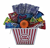 Ultimate Movie Night Gift Bundle Care Package, Easter Basket, Popcorn, Candy, Cookies