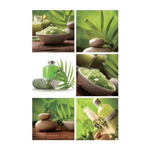 6 Stickers Carrelage Zen – Vert | KPaint.fr