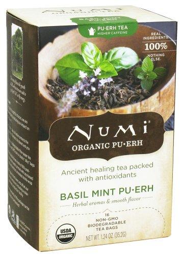 Numi Organic - Pu-Erh Tea Basil Mint - 16 Tea Bags