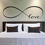Wandsticker, Oyedens 22 * 60cm Schlafzimmerwandaufkleber Dekor Unendlichkeitssymbol Wort Liebe Vinylkunst