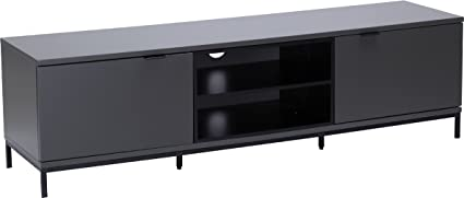 Alphason Chaplin 1600 TV Stand for TVs up to 72 inch - Charcoal