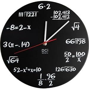 〔送料無料〕 ポップクイズクロック Pop Quiz Clock 数学時計 ウォールクロック 壁掛け時計 ナンバーズ