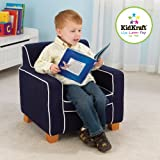 KidKraft Laguna Chair with Navy Piping 18616