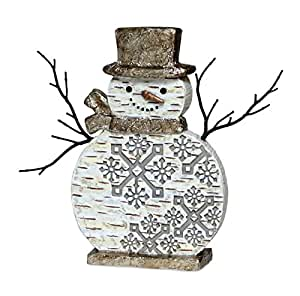 10 corce de bouleau d coration de no l bonhomme de neige for Decoration de noel amazon