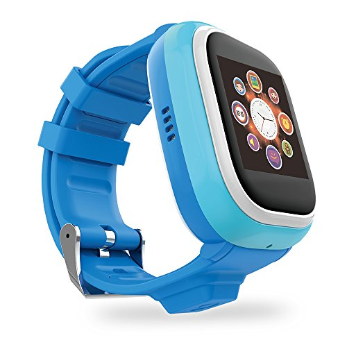 TickTalk Touch Screen Kids Wearable tracker wrist Phone w/ GPS locator, Anti-lost, Controlled by Apple and Android phone APP in Blue Including 1 FREE MONTH w/ T-MOBILE NETWORK! (Phone Kids compare prices)