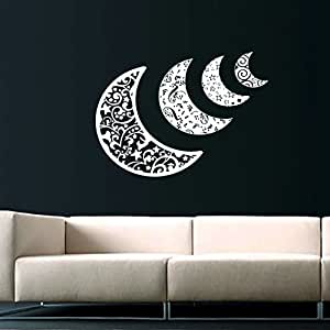 Sky moon stars sun space decals half moon crescent wall for Amazing look with moon and stars wall decals