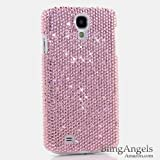 BlingAngels® Luxury Swarovski Crystal Diamond Bling Light PINK Crystals Design Case Cover for Samsung Galaxy S4 S IV i9500 fits Verizon, AT&T, T-mobile, Sprint and other Carriers (100% Handcrafted by BlingAngels with Pink Carrying Pouch)