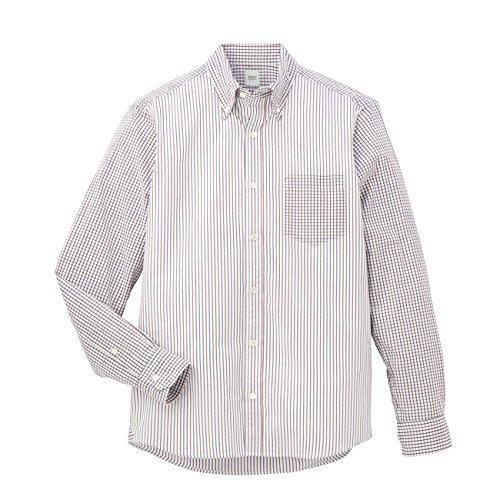 (タケオ キクチ)TAKEO KIKUCHI クレイジーパターン釦ダウンシャツ ボルドー(264) 02(M)