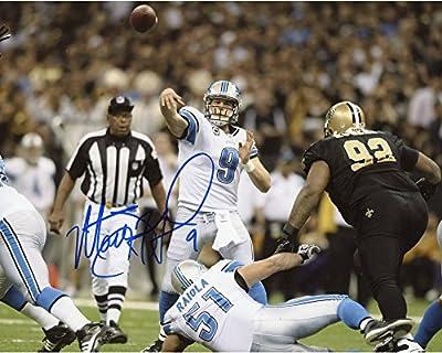 Matt Stafford Detroit Lions Autographed 8'' x 10'' vs. New Orleans Saints After Throw Horizontal Photograph - Fanatics Authentic Certified