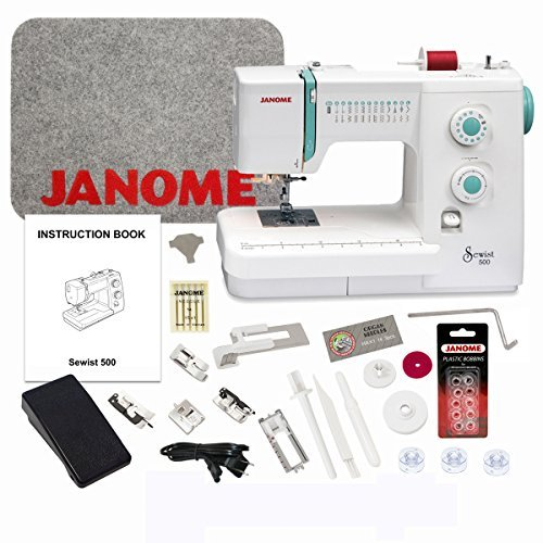 Janome Sewist 500 Sewing Machine with Exclusive Bonus Bundle (Janome Sewist 500 compare prices)