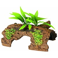 Marina Naturals Malaysian 1/2 Log Driftwood with Plants - Large