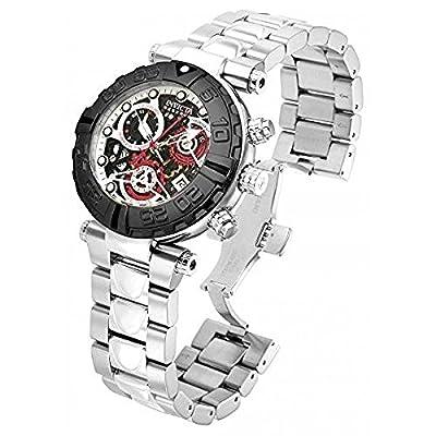 Invicta Mens Reserve Subaqua Noma Swiss 25 Jewel COSC Chrono Silver & Black SS Watch 15018
