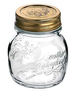Bouchon original lot de 6 bocaux de conservation avec livret de recettes bormioli fido 5,0L