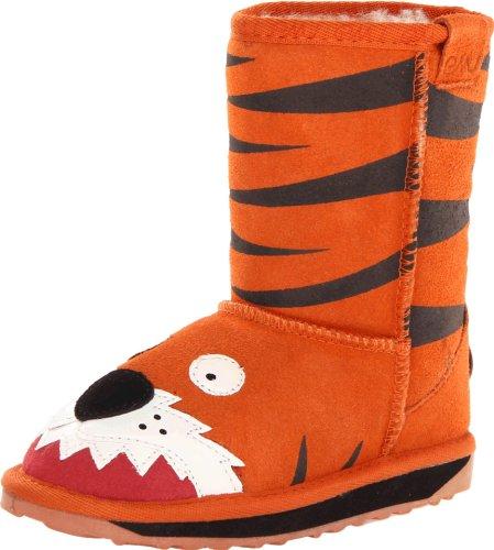 Emu Australia Little Creatures Tiger Boot (Infant/Toddler/Little Kid/Big Kid),Orange,4 M Us Big Kid front-475387