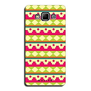 Mozine Pink Fort Pattern printed mobile back cover for Samsung A7