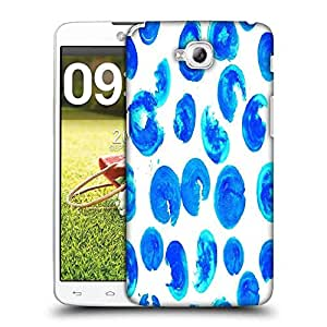 Snoogg Blue Abstract Paint Designer Protective Phone Back Case Cover For LG G Pro Lite