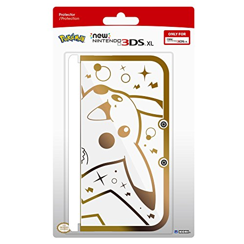HORI-Pikachu-Premium-Gold-Protector-for-New-Nintendo-3DS-XL-Officially-Licensed-by-Nintendo-Pokemon