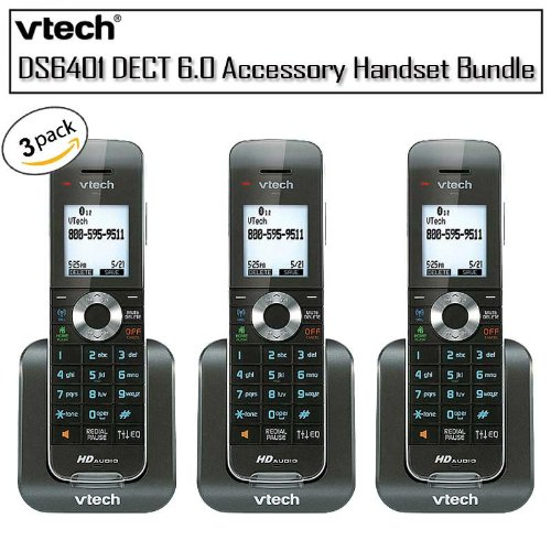 Vtech DS6401 DECT 6.0 Accessory Handset Caller ID/Call Waiting 3 Pack