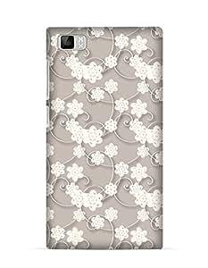 GetASkin Luxury Floral back case for Xiaomi Mi3