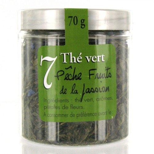 Thé vert saveur pêche fruits de la passion