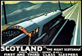 TX108 Vintage Scotland Night Scotsman Railway Tourism Poster Re-print - A3 (432 x 305mm) 16.5