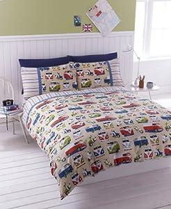 Bedding Campervans Duvet Quilt Cover Exclusive Colour