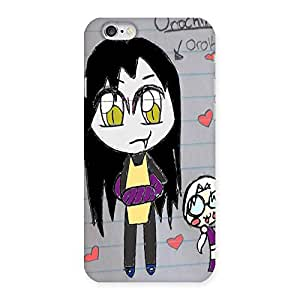 Ajay Enterprises Funny Drawing Back Case Cover for iPhone 6 6S