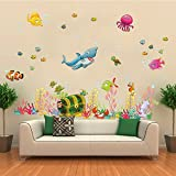 ElecMotive® Under The Sea Decals Whales The Deep Blue Sea Decorative Peel Vinyl Wall Stickers Wall Decals Removable...