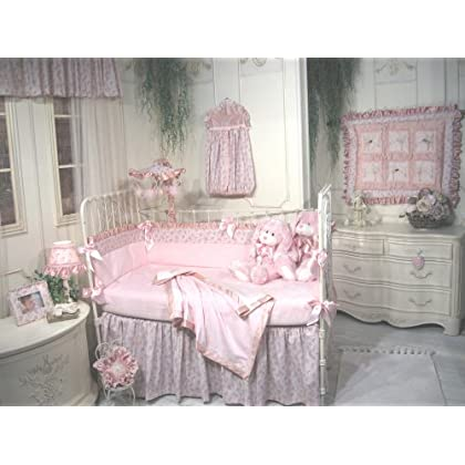Spectacular Jessica McClintock Baby Fairy Dust Piece Crib Set Pink and Cream