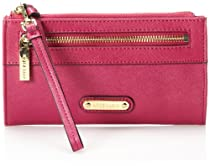 Anne Klein Jazzy Geos Large Wristlet 60269267 Evening Bag,Mulberry,One Size
