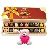 Valentine Chocholik Premium Gifts - Creative Truffles Surprise With Teddy
