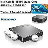 Newest Lenovo ThinkCentre Flagship M93P Tiny Desktop PC| Intel Core I5-4590T Quad-Core| 4GB RAM| 120GB SSD| External...