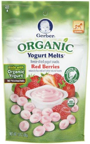 Gerber Organic Yogurt Melts - Red Berries - 1 oz