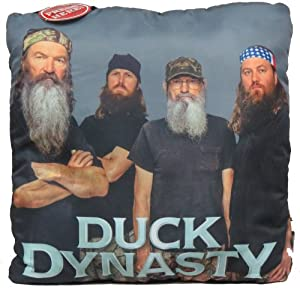 Duck Dynasty Four Faces Talking Throw Pillow