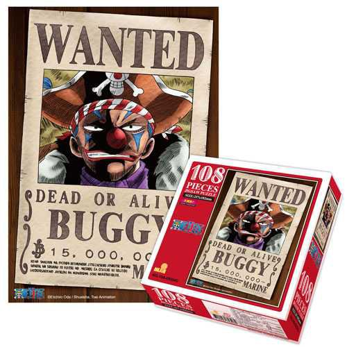 Licensed One Piece Puzzle Wanted: Buggy (108 Pieces 257mm by 182mm)