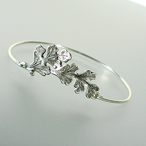 oak-leaf-bangle-bracelet-ss
