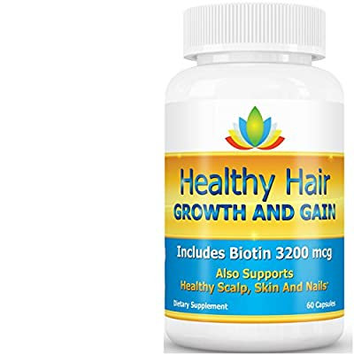 Vitamins For Hair Growth - Biotin Supplement Plus 33 Nutrients - Best Hair Growth Product For Fast Hair Growth Stronger Longer Thicker Volume Shine, Stop Hair Loss And Thinning - Healthy Hair Growth And Gain - Skin and Nail Care, As Well As Hair Regrowth