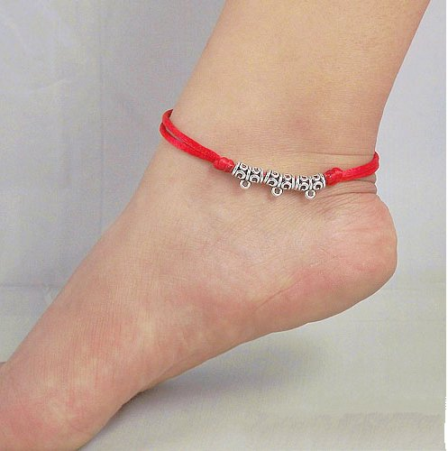 Tibetan Silver Sterling Silver Bangle Anklet Chain Bracelet Jewellery Quality Style NO.3018