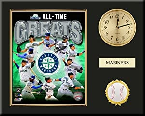 Seattle Mariners All Time Greats Team Composite Photo Inserted In A Gold Slide In... by Art and More, Davenport, IA
