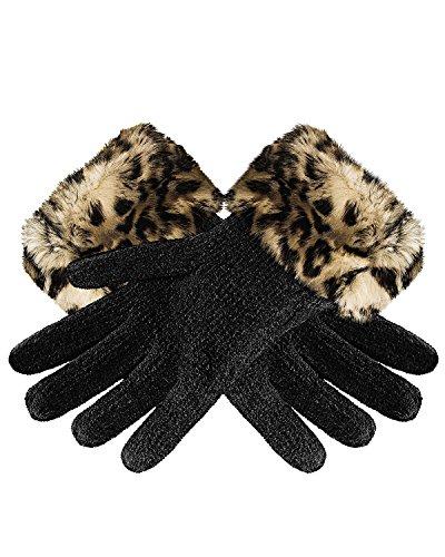 cappelli-faux-fur-chenille-gloves-leopard-one-size