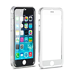 New Trent NT636TR-L Alixo 6L Rugged Clear Bumper Case with Built-in Screen Protector for Apple iPhone 6s Plus, iPhone 6 Plus (5.5-Inch) - Black/White/Transparent