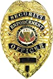Security Enforcement Officer Metal Zinc Alloy Badge Pin Back