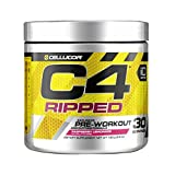 Cellucor C4 Ripped Pre Workout Powder Energy Drink + Fat Burner, Fat Burners for Men & Women, Weight Loss, Raspberry Lemonade, 30 Servings