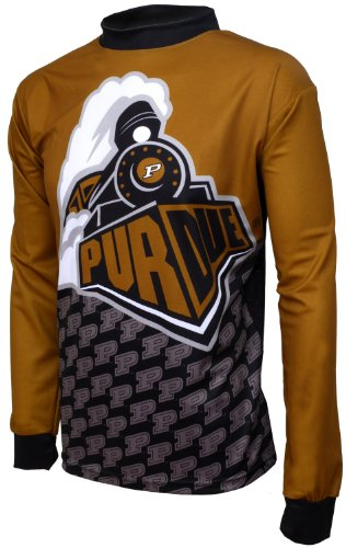 NCAA Boys' Purdue Boilermakers Long Sleeve Performance BMX Jersey (Multi, X-Large (12-14))