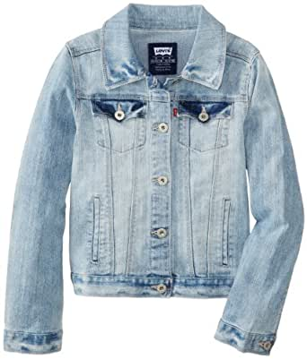Levi's Big Girls' Denim Jacket, Blue Haven, X-Large